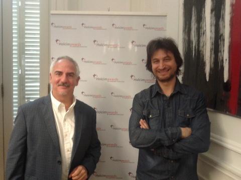 Arquitecto Gustavo Restrepo junto al Arquitecto Gregorio Unfirer